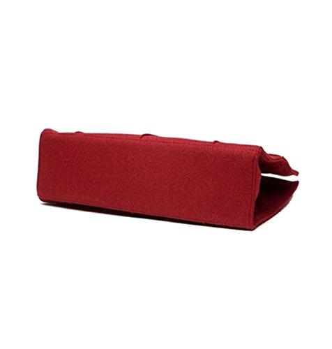 Mode Quadrat Metallschnappverschlüsse Große Taschen Parteibeutel Einfach Elegant Handtaschen Freizeit Einkaufen Schultertasche Ms. Red