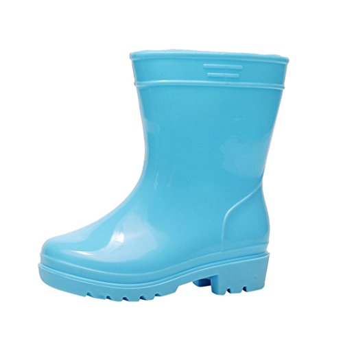short wellie TianranRT Unisex Toddler Kids Baby Child Soft Rubber Anti-Slip Rain Boots Suit for 2~4 Years Kids