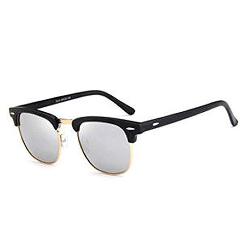 Gaodaweian Unisex-Sonnenbrillen Vintage Metall + PC-Rahmen Retro Eyewear Square Frame Brillen für Männer und Frauen (Color : White)