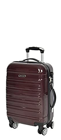 APOLLO Suitcase Luggage Travel Bags Hard Shell Expandable 4 Wheeler Number Lock Trolley BROWN (Cabin 56x35x22 cm /