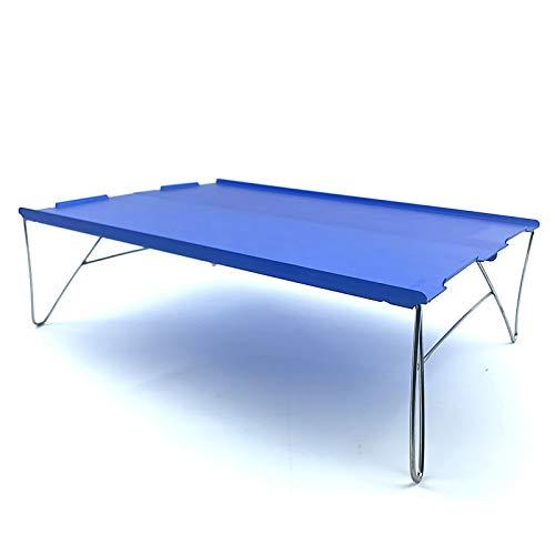 QQWWEE Tragbare Outdoor Ultraleicht Mini Folding Camping Tisch Schreibtisch Lebensmittelzubereitung Kochen Tragbare Plattform Outdoor Camping Möbel