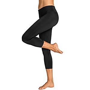 31WAjI1P%2BNL. SS300  - CRZ YOGA Women's Running Tights Flex Capris Leggings Yoga Pants with Pockets
