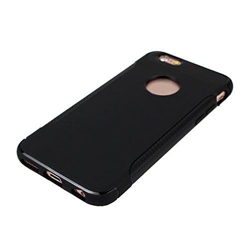iPhone 6S Plus Hülle Rutschfest, iPhone 6 Plus Hülle Rutschfest, iPhone 6S Plus Hülle Silikon, Moon mood® Rutschfeste Kratzfeste TPU Silikon Handyhülle Schutzhülle Case für Apple iPhone 6 Plus/6S Plus 2 PCS 2