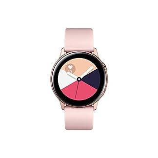 SAMSUNG Galaxy Watch Active Reloj Inteligente Oro Rosa SAMOLED 2,79 cm (1.1″) GPS (satélite) – Relojes Inteligentes (2,79 cm (1.1″), SAMOLED, Pantalla táctil, GPS (satélite), 25 g, Oro Rosa)