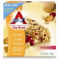 Atkins Day Break Almond Cranberry Bar 5 x 37g