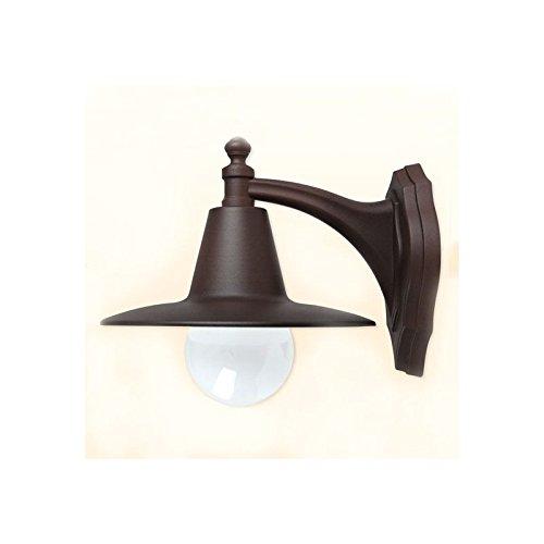 Applique Exterieur métal marron epoxy eclairage terrasse