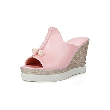 Zhenfu Chaussures Femme Cale Talons / Plate-forme / Sling Retour / Open Toe Robe Sandales Noir / Bleu / Blanc / Rose Rose Rougir