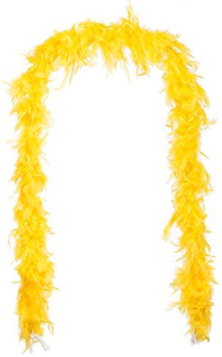 Brandsseller - Federboa Federschal Federstola Schal Karneval Fasching Burlesque Kostüme Zubehör (ca. 1,80 m, Gelb)