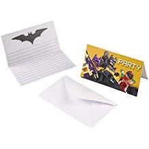 Juego de tarjetas de invitación de 16 piezas * Lego Batman * para fiestas de cumpleaños