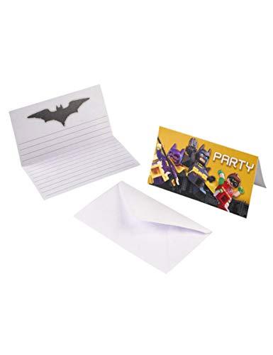 Lego® Batman-Einladungskarten und Umschläge 8 Stück -