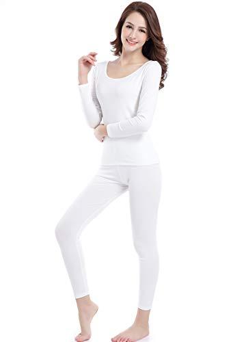 Damen Thermounterwäsche Langarm Rundhalsaußchnitt Base Layer Leggings Fitness -