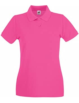 Fruit of the Loom Lady-Fit Premium–Camiseta de tipo polo para mujer (
