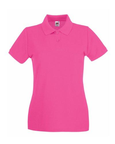 Fruit of the Loom Premium Polo Lady-Fit - Farbe: Fuchsia - Größe: S - Frauen Polo-shirts