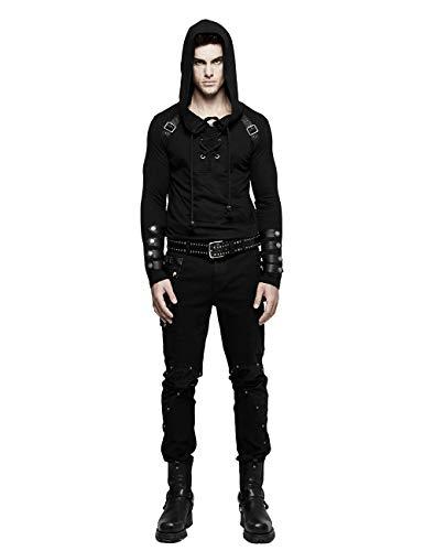 Punk Rave - Sudadera con Capucha para Hombre, Estilo gótico,...