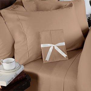 Ägyptische Betten 600thread-count, Queen Kissen, taupe Solid, Set von 2 (Damast Bett-set Königin)