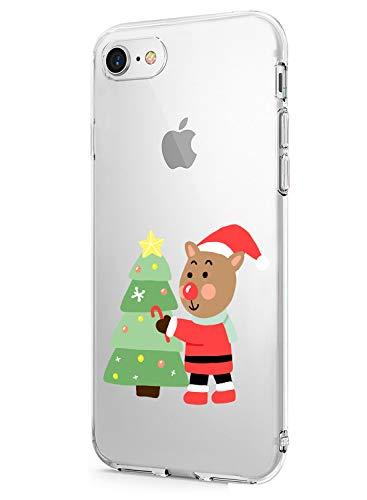 Fvntuey Fundas Compatible con iPhone 7 Plus/iPhone 8 Plus Funda TPU Christmas Winter...
