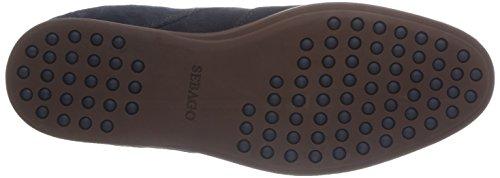 Sebago Teague T Toe, Chaussures de ville homme Bleu (Navy Suede)