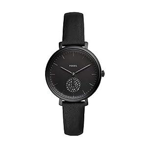 Fossil Damen Analog Quarz Uhr mit Leder Armband ES4490