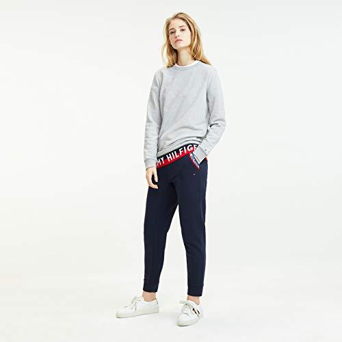 Tommy Hilfiger Damen Khloe C-NK Sweatshirt LS Langarmshirt, Grau (Light Grey Htr 039), Medium (Herstellergröße: M) (Tommy Frauen Sweatshirt Hilfiger)
