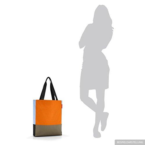 Reisenthel–Borsa della spesa Patchworkbag–Borsa, colore e motivo a scelta, patchwork pastel blue - himmelblau, M patchwork pumpkin - kürbis orange