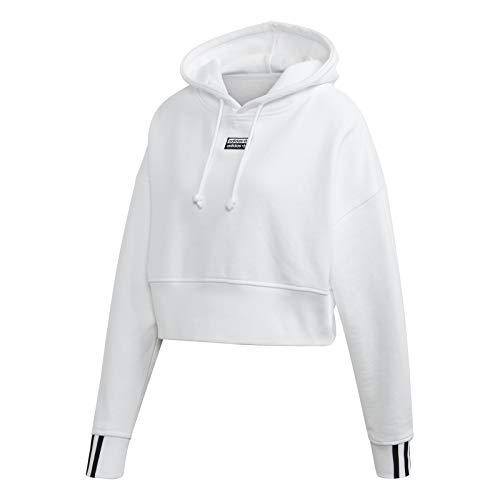 adidas Originals Damen Cropped Hoodie Weiß 36 -