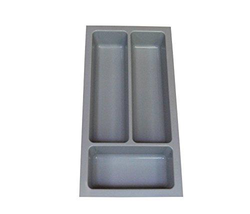 Heavy Kunststoff-schubladen Duty (Besteckkasten für die meisten 300mm Schubladen. Robuste grau Kunststoff 214mm breit x 422mm tief x 57mm hoch)