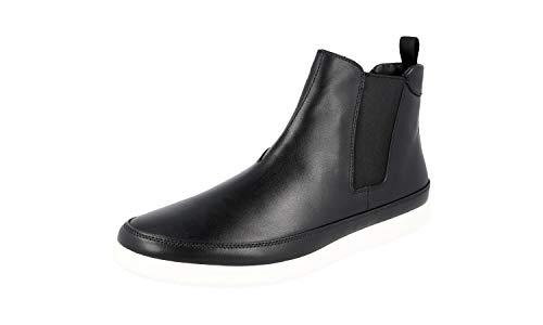 Prada 4T3154 Herren Stiefelette aus Leder, Schwarz (schwarz), 40 EU - Männer Schuhe Prada Kleid