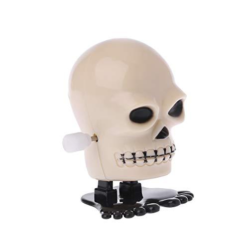 Junlinto Halloween Uhrwerk Jumping Skull Mechanische Pädagogische Spielzeug Streichspiel Liefert