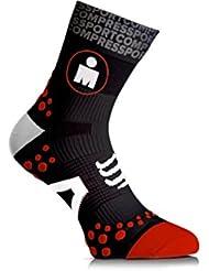 Compressport Calcetines Ironman Pro Racing Socks Run V2.1 High Blancos - T2