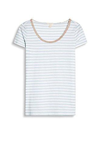 ESPRIT Damen T-Shirt Mehrfarbig (Pastel Blue 435)