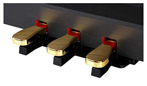 Classic Cantabile DP-50 SM E-Piano (Digitalpiano mit Hammermechanik, 88 Tasten, 2 Anschlüsse für Kopfhörer, USB, LED, 3 Pedale, Piano für Anfänger) schwarz matt - 6