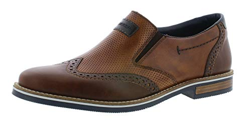 Rieker 13560 Herren Slipper,College Schuh,Loafer,Halbschuh,elegant,Business-Schuh,Anzugschuh,Büro,kastanie/mandel/25,41 EU / 7.5 UK
