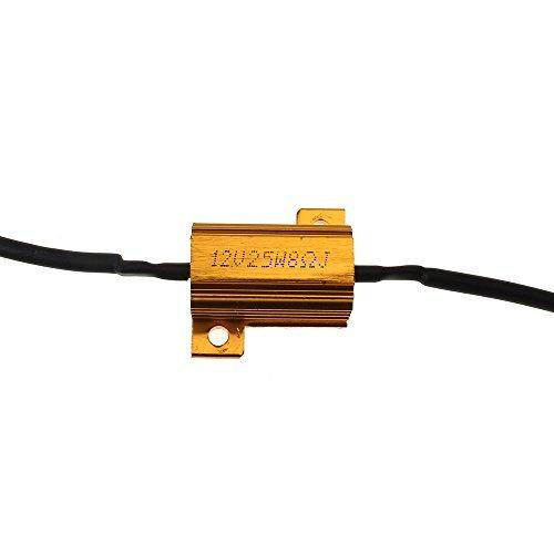 srovfidy? 2pcs resistencias 25W 8ohm para intermitente LED coche moto DC 12V