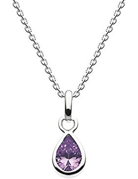 Dew  -  925 Sterling-Silber  Silber Tropfenschliff   lila Améthyste