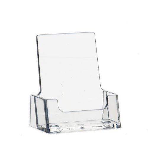 10 Stück Visitenkartenhalter im Hochformat transparent