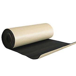 Sourcingmap 60cm X 100cm Vehículo Insonorizante Forro Papel Adhesivo 10mm de Espesor Espuma Aislante Acústico Amortiguación de Ruido Sonido Negro