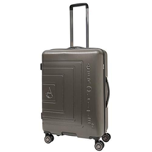 Aerolite 71,5cm Leichtgewicht ABS Hartschale 8 Rollen Trolley Koffer Reisekoffer Gepäck, Genehmigt für Ryanair, easyJet, Lufthansa, und viele mehr, anthrazit