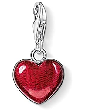 Thomas Sabo Damen-Charm-Anhänger Herz Charm Club 925 Sterling Silber rot 0783-007-10