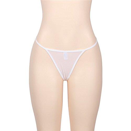 E-Girl 2er Pack G5019 Damen String Panties Hipster Weiß