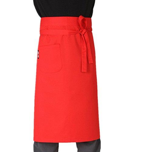 Unisex delantal de camarero de cocina con bridas de la cintura para...