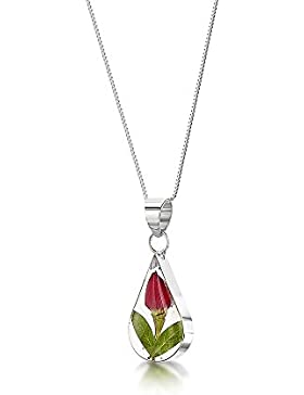 Silberschmuck mit echten Blumen: