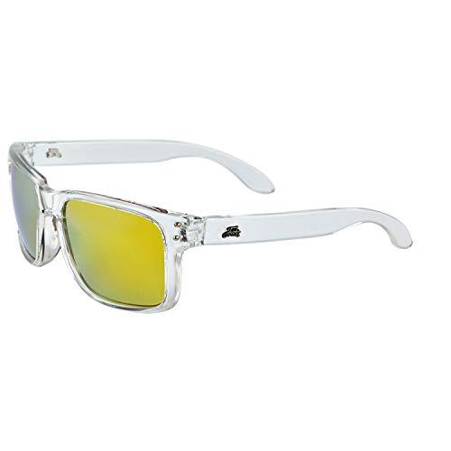 FORTIS Buchten, Eyewear Neue transparent frame X Bloc gelb Objektiv polarisierten Sonnenbrille (by004)
