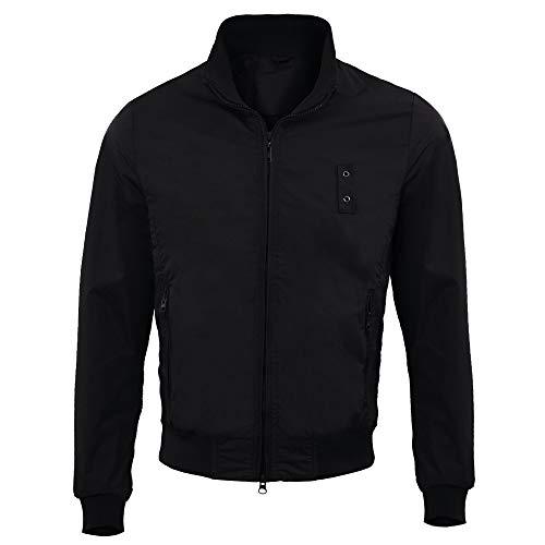 Giubbotto uomo primavera estate blu nero grigio leggero elegante impermeabile giacca a vento leggera sportiva primaverile giubbino k way estivo casual moto m l xl xxl xxxl (nero, xxxl)