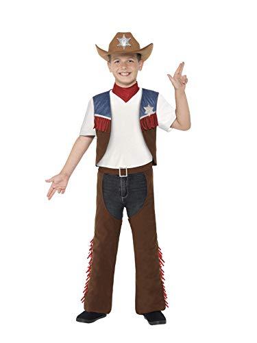Alten Cowboy 1 Jahr Kostüm - Smiffys 24666M - Jungen Cowboy Kostüm, Alter: 7-9 Jahre, Größe: M, braun