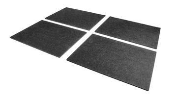 FILU Platzsets aus Filz (Farbe wählbar) 4 Stück Set (dunkelgrau, eckig, 30 x 41 cm) Tischset / Platzset für Holztisch, Glastisch und Gartentisch geeignet, passendes Filzset zum FILU Untersetzer