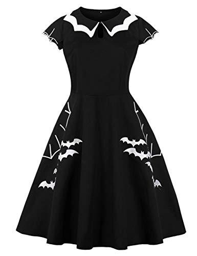 Vampir Baby Kostüm Fledermaus - FeelinGirl Amen Vintage 1950er Partykleid Rockabilly Ärmellos Retro Cocktailkleid