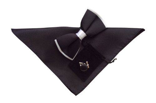 Snob Sock - Hommes Noeud papillon, boutons de manchette, jeu de mouchoir en 35 couleurs différentes.