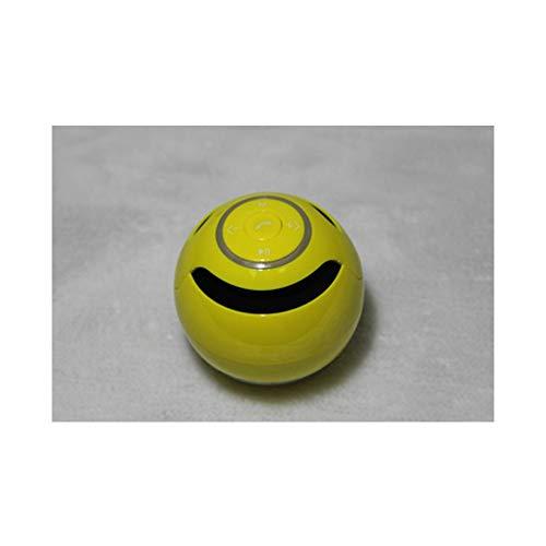 Technology Bluetooth Audio, mehrfarbiger Ball mit hellem Bluetooth-Lautsprecher Outdoor-Karten-Geschenk-Minilautsprecher (Color : Yellow)