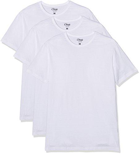 FM London 3-Pack Men's Plain T Shirt | Short Sleeve, Crew Neck Tshirt with Cotton Rich Composition and Regular Fit