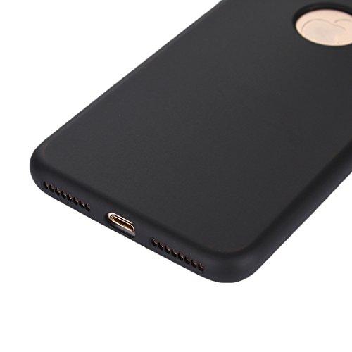 GR iPhone 7 Plus PC Cover Kombination Schutzhülle 360 Grad Shockproof Öl Auslauf Silikon zurück Fall ( Color : Gold ) Black